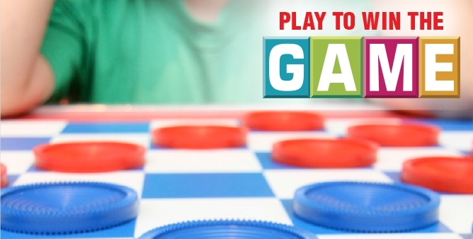 Checkers game board - play to win the game